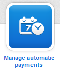 Manage automatic payments button