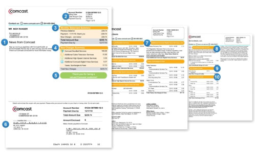 Image of bill pages showing various sections of the bill.