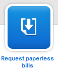 Request paperless bills button