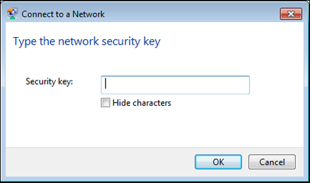 "The image displays the ""Security key"" field."