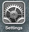 iOS - Settings icon