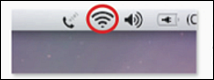 The image displays the WiFi icon for Apple Mac OS X