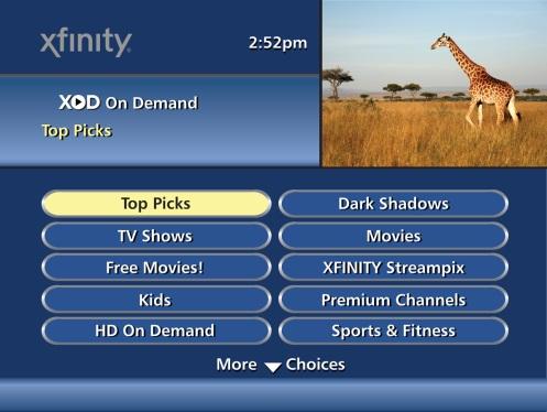 Xfinity Comcast TV Guide