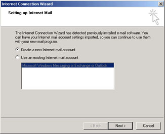comcast net email setting: