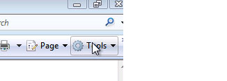 Internet Explorer - Select Tools