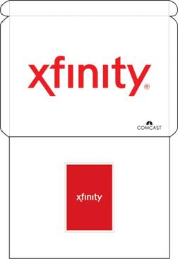 The contents of an XFINITY Internet self-installation kit are displayed