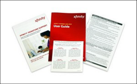 The user guide, terms and conditions and other self-installation kit literature are displayed.