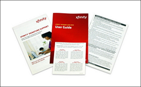 The user guide and other self-installation kit literature including terms and conditions are displayed.