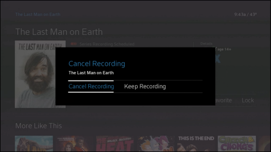 Option to Cancel Recording is selected.