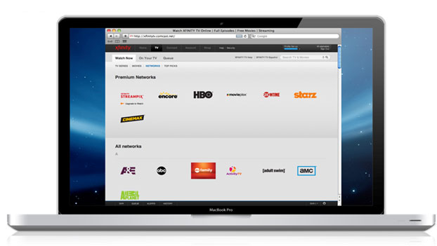 Select XFINITY STREAMPIX from the premium networks list to browse title and play TV shows and movies or add to your queue.