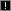 Small icon of an exclamation pointin a black box