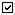Small icon of a check mark in a white box