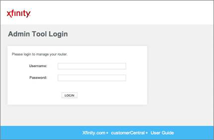 Admin tool login with a field for Username and Password in the center of the screen.