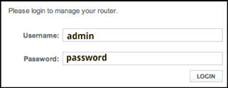 Image shows username and password fields for Admin Tool