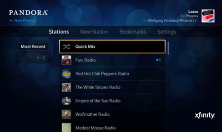The Stations List screen is displayed