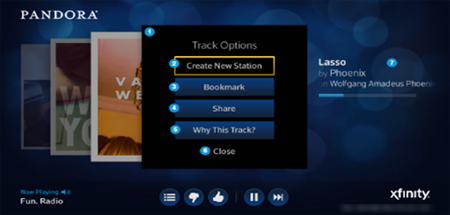 Buttons for Create New Station, Bookmark, Share and Why This Track are displayed