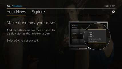 The Your News screen is displayed