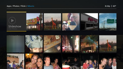 X1 Photos app - Flickr - Slideshow option