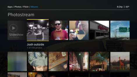 X1 Photos app - Flickr - Hover/Photo caption displayed