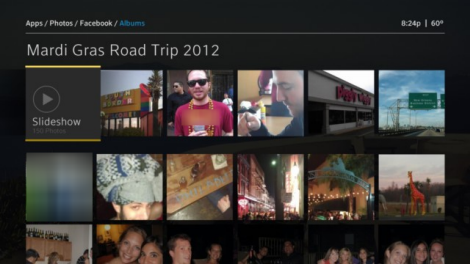 X1 Photos app - Facebook Albums Slideshow option