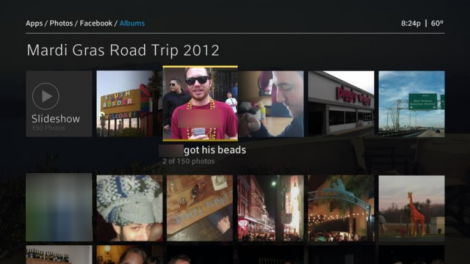 X1 Photos app - Facebook Albums Slideshow with caption