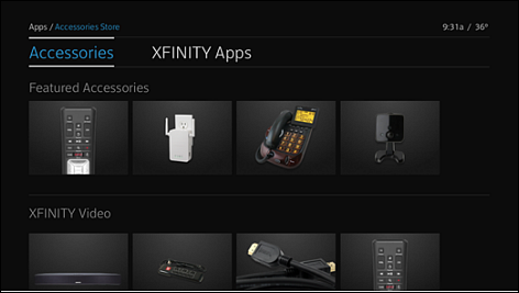 The X1 Accessories Store app.
