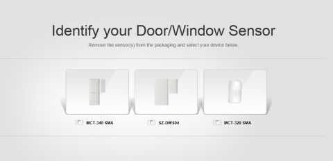 This image displays three door/window sensors