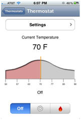 thermostats screen