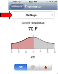 thermostat settings screen