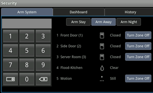 XFINITY Home Touch Screen Arm System options