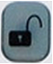 XFINITY Home SMC Keypad Lock icon button - image is of an unlocked padlock