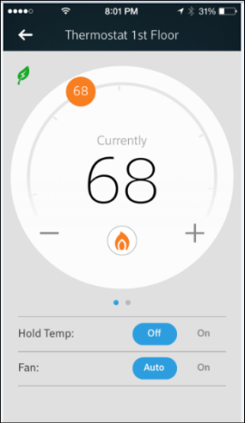 Thermostat Details screen.