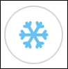 Cool button; this button has an image of a snowflake