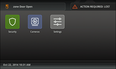 The ACTION REQUIRED message displays with an alert symbol.