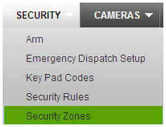"security tab - ""security zones"" selected"