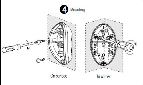 XFINITY Home Control - Motion Sensor installation diagram, step 4