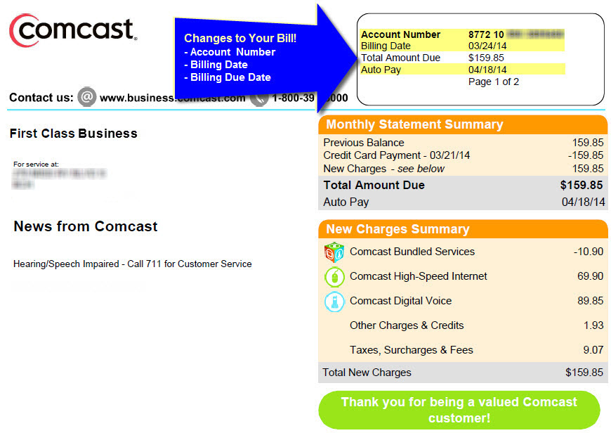 pay comcast business bill online